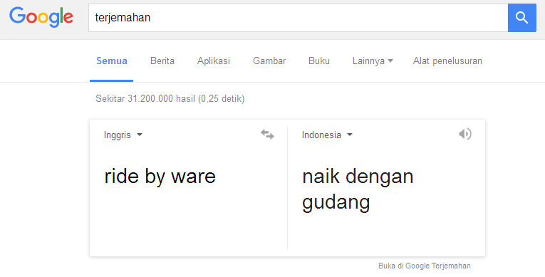 ride by ware terjemahan google